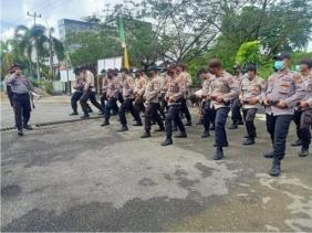 Menghadapi Pilkada Serentak 2020, Polres Rohil Laksanakan Pelatihan Dalmas Awal di Mapolsek Bangko