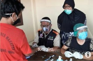 Sebanyak 20 Orang Tahanan Polres Tebingtinggi Jalani Rapid Test