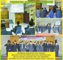 Pemkab Aceh Tamiang, Peringati HUT Pancasila Via Daring
