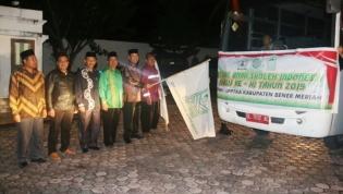 Sekda Kabupaten Bener Meriah Drs Haili Yoga M Si, lepas Kontingen FASI ke-XI Tahun 2019