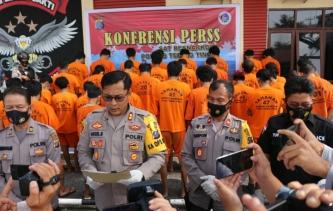 Hasil Operasi Antik Toba 2021, Polres Tebingtinggi Tangkap 35 Tersangka Narkoba