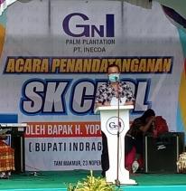 Bupati Hadiri Penandatanganan SK CPCL Tiga Koperasi Kemitraan PT Inecda Plantatiions