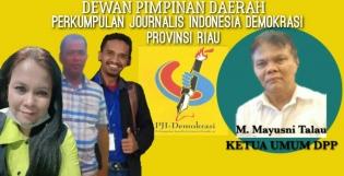 Pengurus DPD PJI-Demokrasi Provinsi Riau Resmi Terbentuk