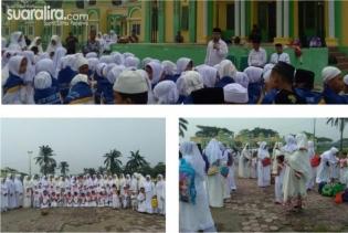 Latih Pendidikan Haji, TK dan SD Yaspen Ummi A'yuni adakan Manasik