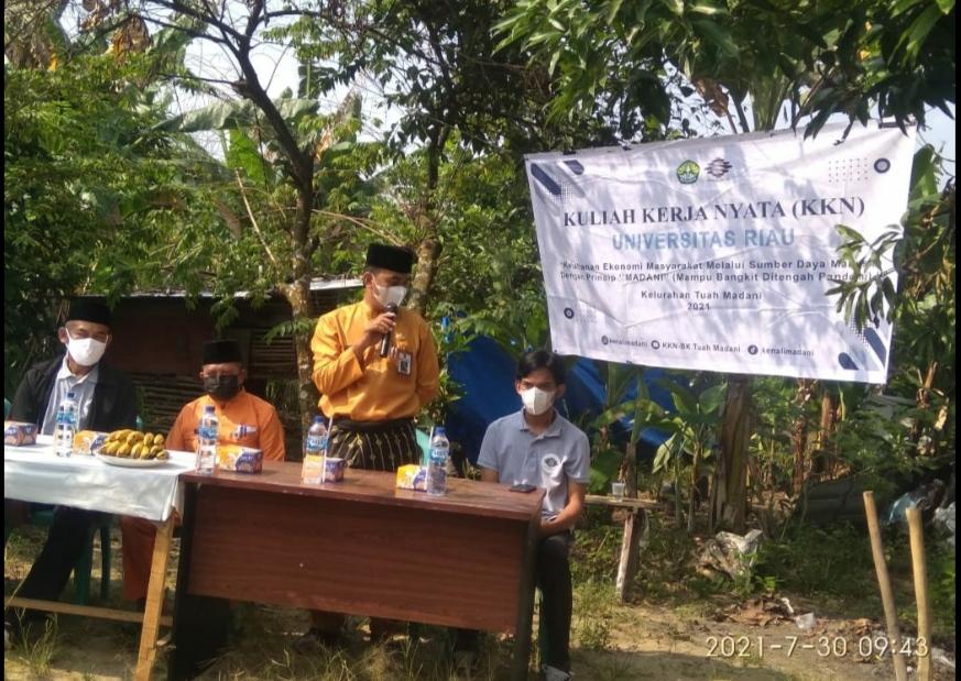 KKN Mahasiswa/i UNRI Tahun 2021 di Kelurahan Tuah Madani Dengan Prinsip 'Madani'