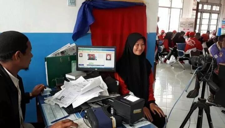 Disdukcapil Aceh Tengah Lakukan Perekaman KTP Elektronik untuk Calon Paskibra