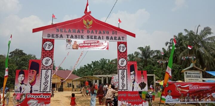 Meriahnya Perayaan Hut Ri Ke 74 Di Kantor Desa Tasik Serai Barat
