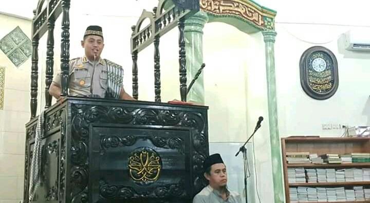 Kapolres Lubuklinggau Safari Subuh Di Masjid Jami Hujjatul Islam