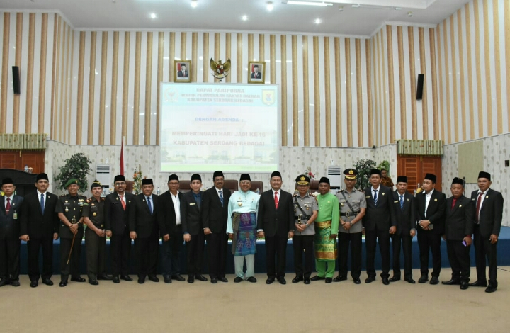 Rapat Paripurna Istimewa DPRD Dalam Rangka Hari Jadi Kab Sergai ke-16 Tahun 2020