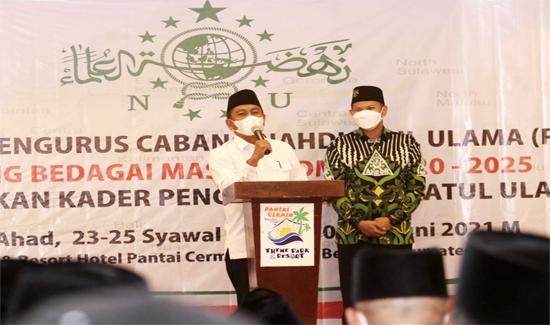 Hadiri Pelantikan Pengurus PCNU, Bupati Sergai 'Muliakan Para Ulama'