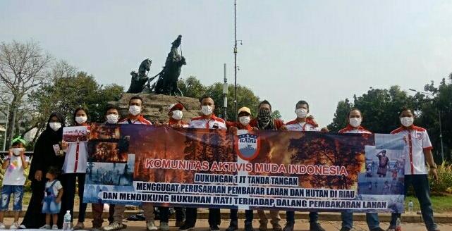 PB KAMI Gelar Aksi Solidaritas Untuk Rakyat Riau