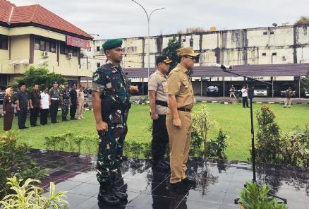 Walikota Pimpin Apel Konsolidasi Pasukan Berakhirnya OPS Ketupat Musi 2019