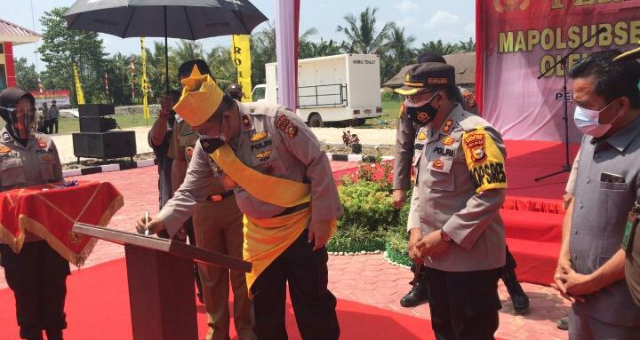 Waka Polda Riau Resmikan Kantor SubSektor Pekaitan, Tabana Bangun : Layani Masyarakat Dengan Sepenuh Hati