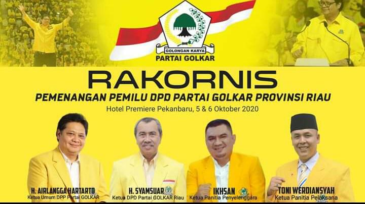 Rakornis DPD I PG, Fraksi Tanggungjawab dalam Pemenangan Pilkada di Riau