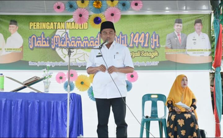 Wabup Sergai Hadiri Peringatan Maulid Nabi Besar Muhammad SAW 1441 H Kecamatan Sei Rampah