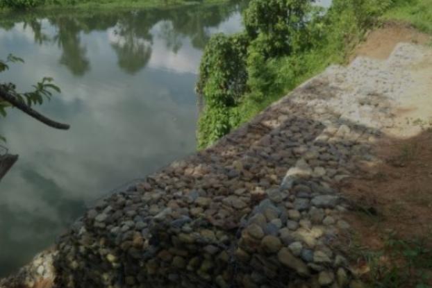 Telan Anggaran Rp 245 Juta Bronjong di Sungai LakitanSelangit, Hanya Dibangun Sepanjang 10 Meter