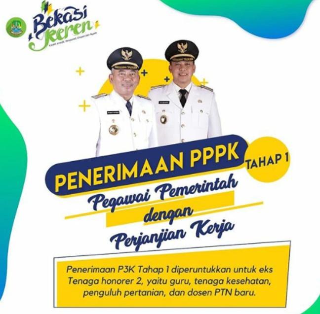 Pemkot Bekasi Membukan Penerimaan Pegawai PPPK (P3K)