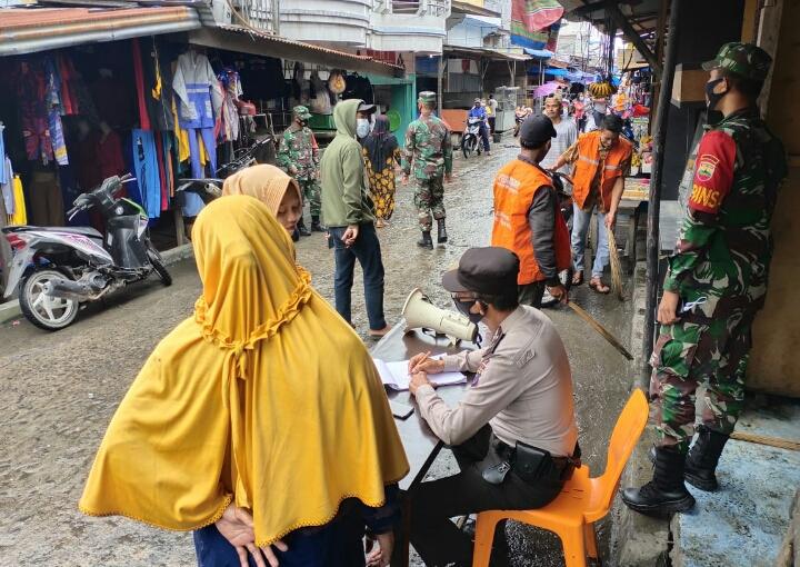 Operasi Yustisi Kecamatan Pasir Limau di Oleh Polsek Panipahan