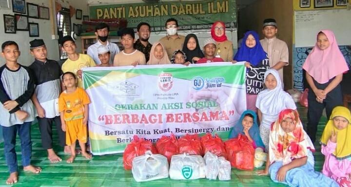 Marhaban Yaa Ramadhan 1442 H, Aksi Sosial HPJI Riau Bersama Pemuda LIRA Riau dan Founder GSJ