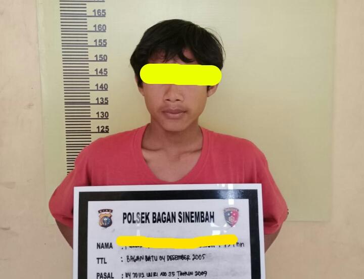 Diduga Terlibat Jual Beli Sabu, Seorang Pelajar Digelandang Ke Polsek Bagan Sinembah