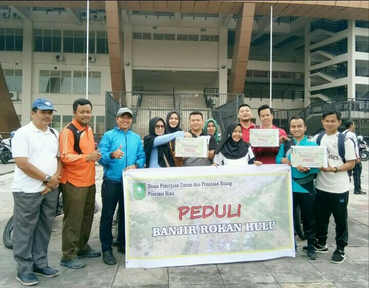 PUPR Provinsi Riau Penggalangan Dana Peduli Banjir Rokan HULU