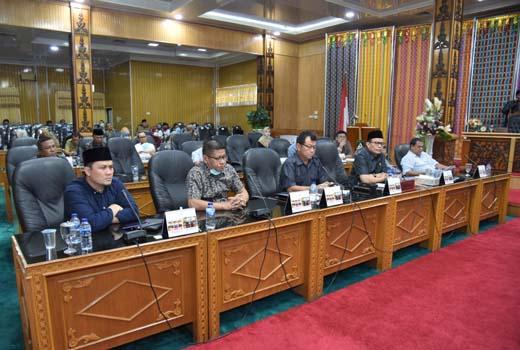 DPRD Bengkalis Gelar Rakor Bersama Untuk Pencegahan Dan Penyebaran Covid 19