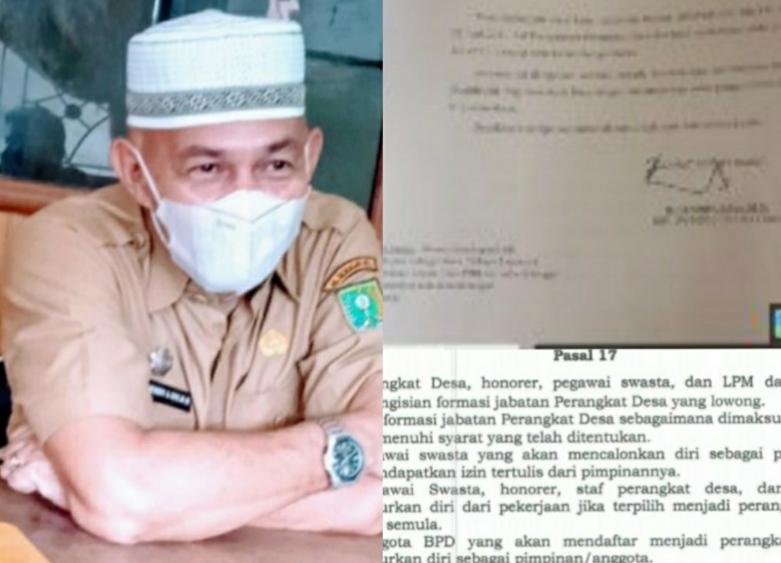 Sekdes Tani Makmur Dobel Job, Kangkangi Perda Nomor 03 Tahun 2017 Pasal 17