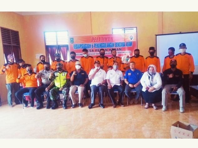 Babinsa Kodim 0302/Inhu Hadiri Pelatihan Kesiap Siagaan Dan Penanggulangan Bencana