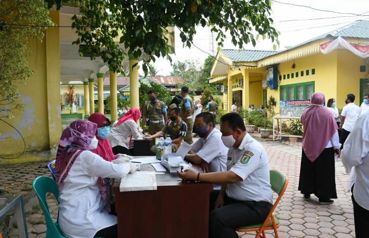 Upaya Putus Rantai Pandemi Covid-19, Pemkab Sergai Gelar Rapid Test dan Swab Massal