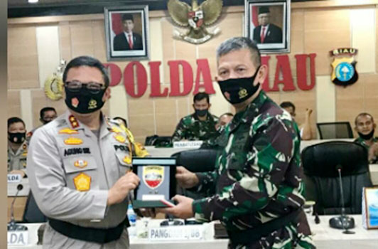 Pangdam I/ BB Kunjungan Kerja Ke Polda Riau