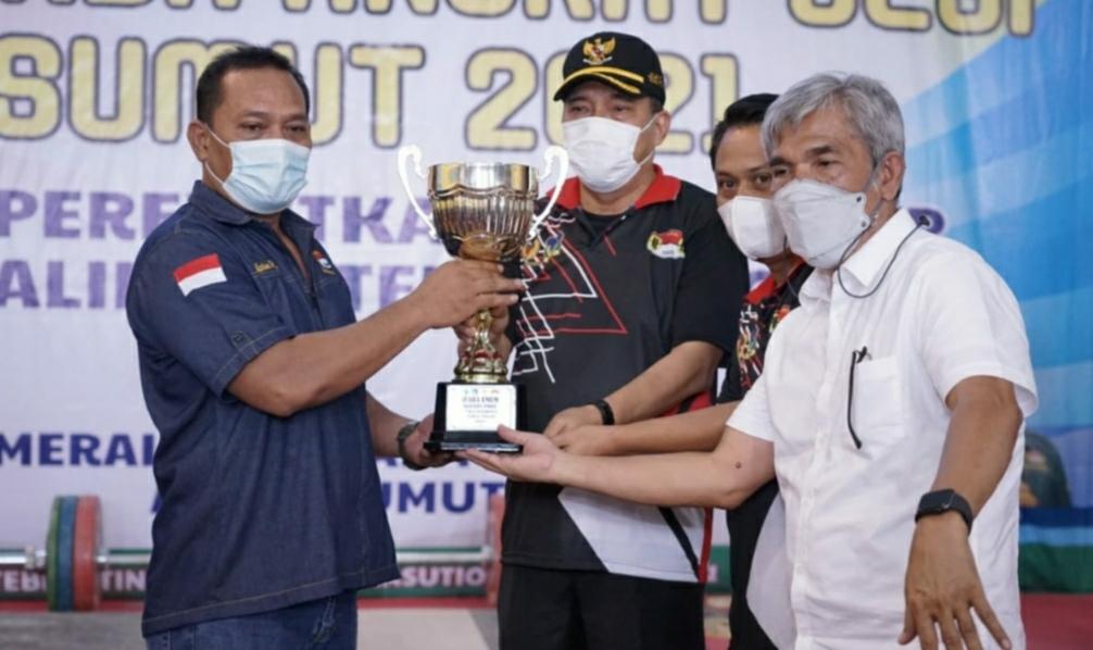 Walikota Tebingtinggi Buka Kejurda Angkat Besi Sumut Piala Walikota Tahun 2021