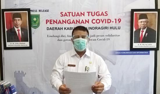 Terjadi Penambahan Jumlah Komulatif Kasus Konfirmasi Covid-19 di Inhu