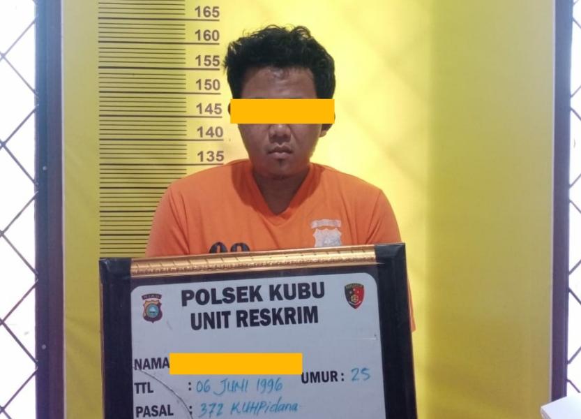 Tim SatReskrim Polsek Kubu Berhasil Membekuk 1 Orang Komplotan Pengelapan Rental Mobil, 2 Orang DPO