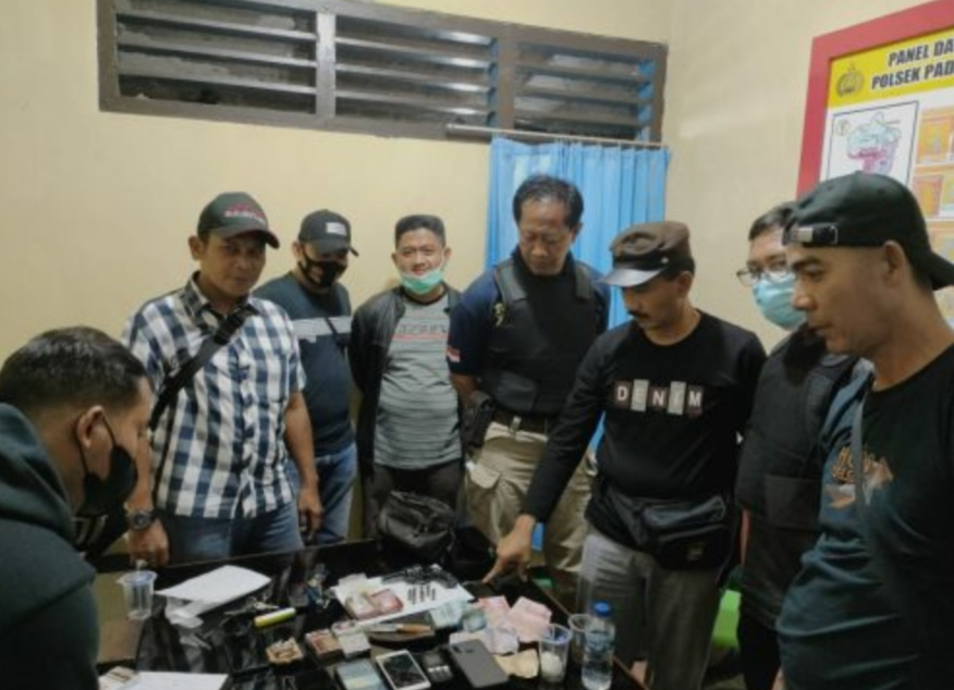 Polsek PUT RL Tangkap Bandar dan Tujuh Pemakai Narkoba di Binduriang