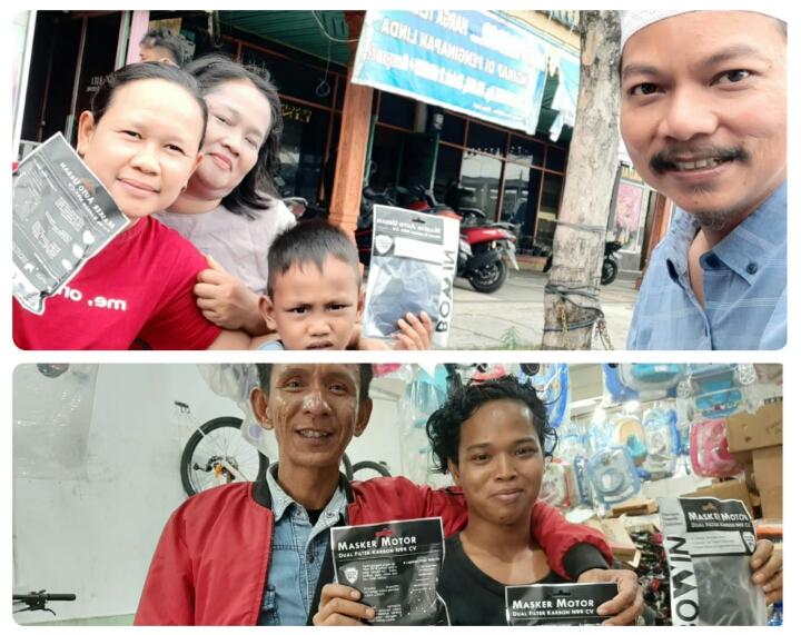 Antisipasi Penyebaran Virus Corona, Pemilik Toko Sepeda Firman 3 Bagi bagi Masker Gratis