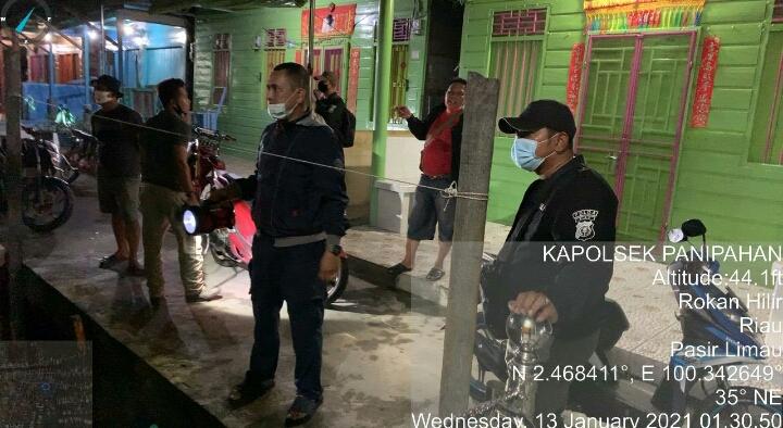 Polsek Panipahan laksanakan Patroli Dini Hari Antisipasi C3