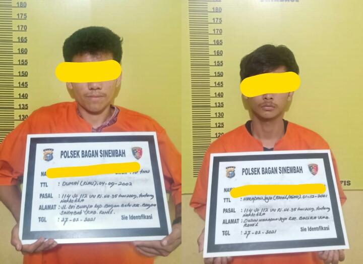 Polsek Bagan Sinembah Ungkap Tindak Pidana Penyalahgunaan Narkotika Jenis Sabu