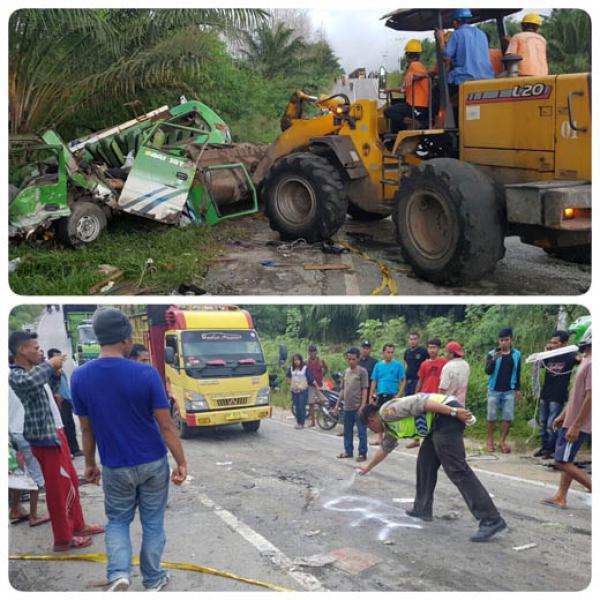 Lakalantas Maut di Jalan Lintas Pekanbaru-Duri, 4 Orang Tewas Seketika
