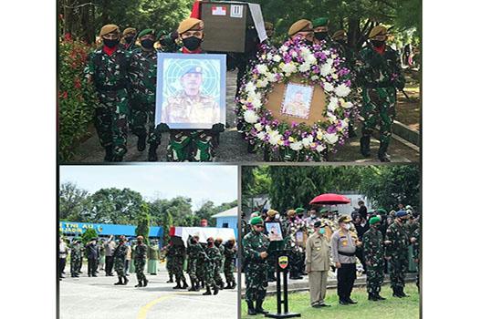 Pangdam I/BB Pimpin Penerimaan dan Pemakaman Jenazah Alm Pelda Anumerta Rama Wahyudi