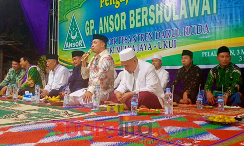 Anggota DPRD Riau, Husni Tamrin Hadiri Pengajian Umum GP Ansor di Ukui