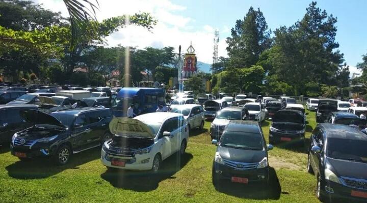Penuhi Rekomendasi BPK, Pemkab Aceh Tengah Lakukan Apel Kendaraan Dinas