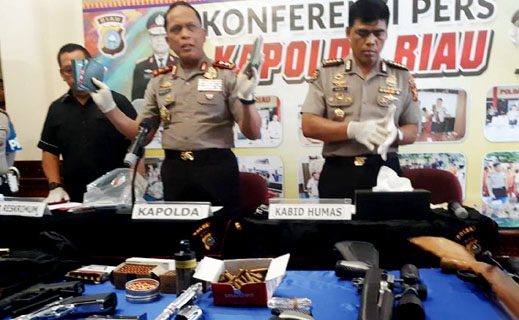 Baku Tembak di Pekanbaru, Dua Pelaku Tewas