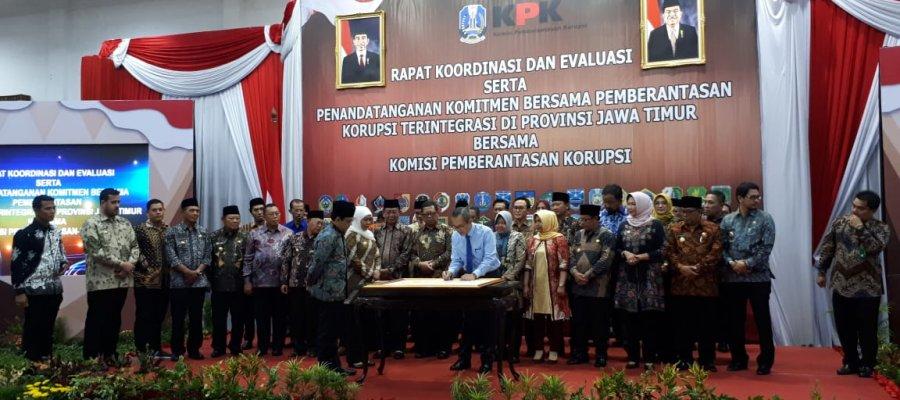KPK – Pemprov Jatim Teken Pakta Integritas