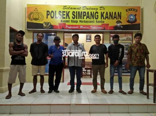 Yusuf Siahaan di Dampingi Manaek Siahaan Buat Laporan ke Polsek Simpang Kanan