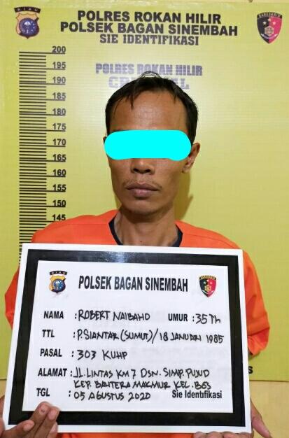 Polsek Bagan Sinembah Tangkap Tindak Pidana Perjudian Jenis Mesin Ikan