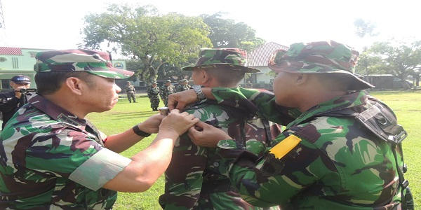 Jelang Pemilu, Prajurit Kodim 0735/Surakarta Ikuti Apel Gelar Latihan Pengamanan