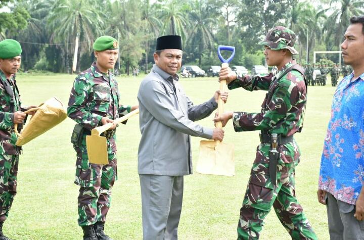 Pelaksanaan TNI Manunggal Membangun Desa Resmi Dibuka Wabub Sergai