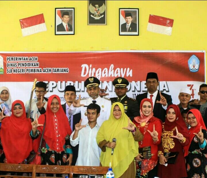 Wabup Bersama Unsur Forkopimda Ber Anjangsana ke SLB Negeri Pembina Kuala Simpang