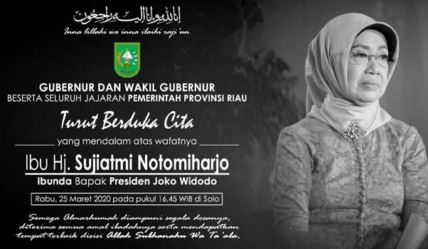 Gubri Sampaikan Duka Cita Atas Meninggalnya Ibu Presiden Jokowi