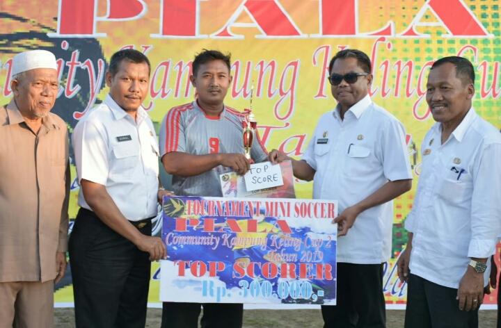 Wabup Sergai Tutup Turnamen Kampung Keling Cup II